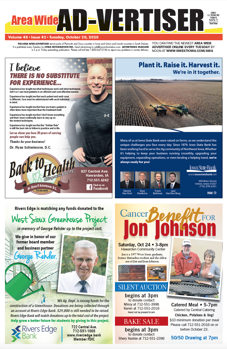 Area Wide Ad-Vertiser: October 20, 2020