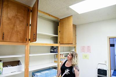 Food bank cupboards