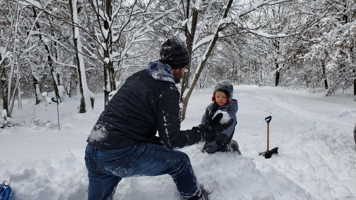 Gettting ready for a snowball fight