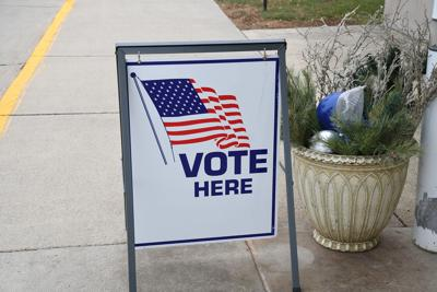 Sheldon voting sign