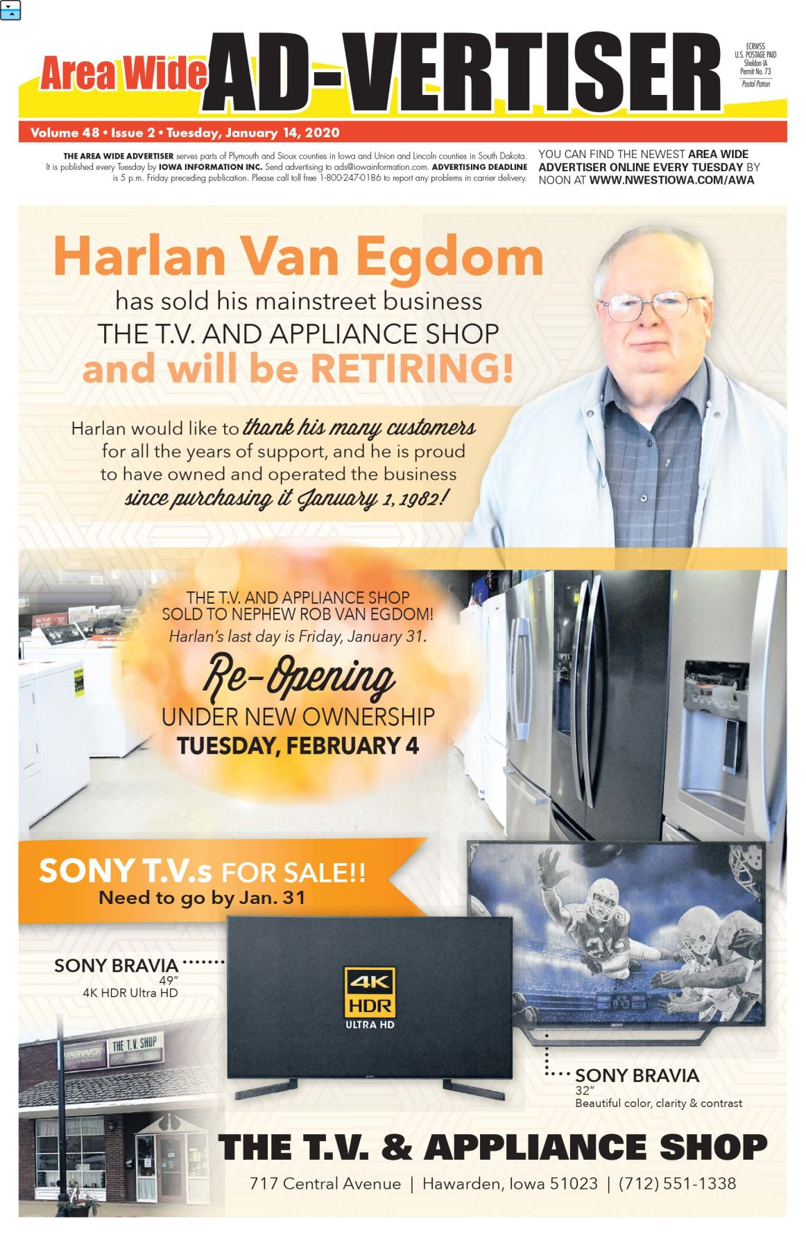 Area Wide Ad-vertiser: January 14, 2020