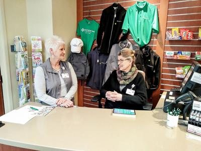 Volunteers at Sioux Center Health shop