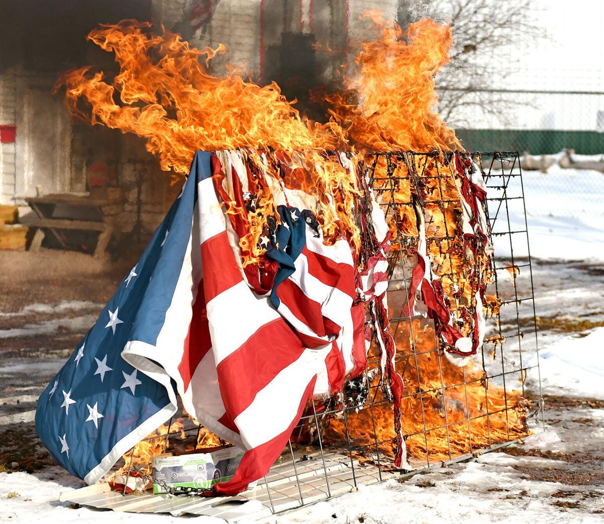 Sioux Center American Legion flag retirement