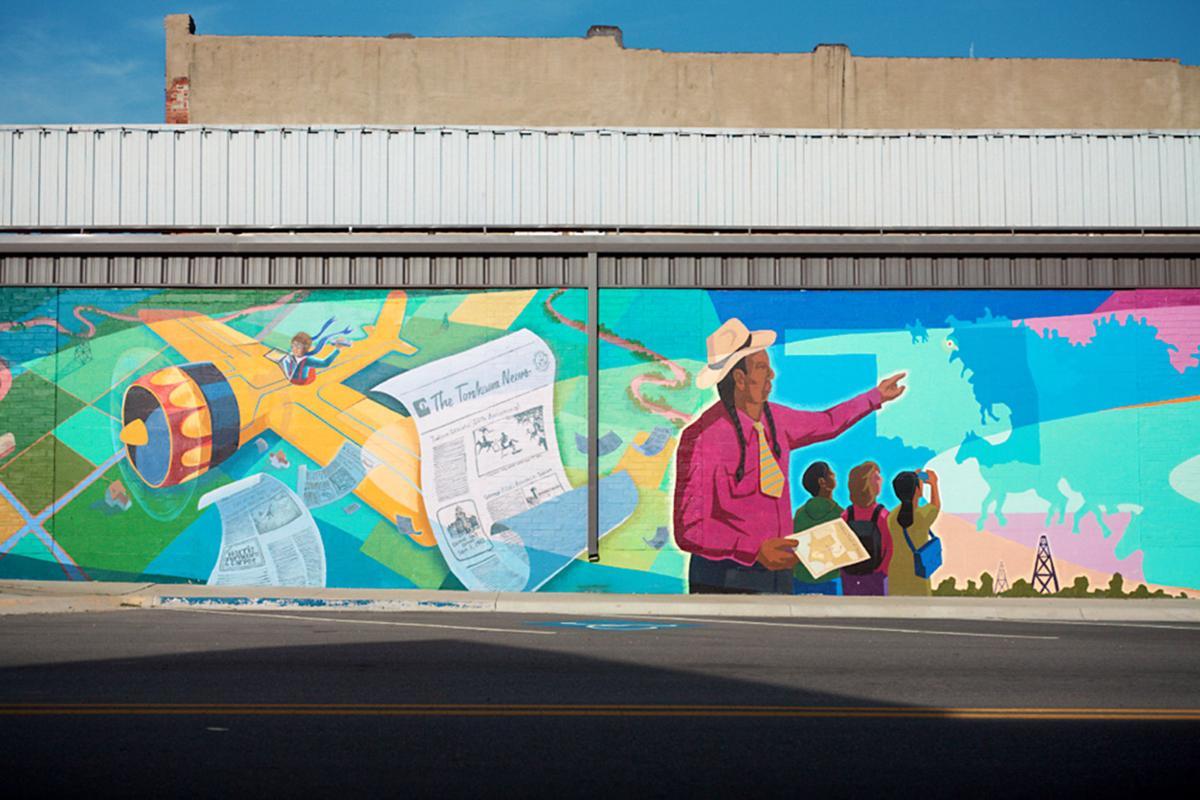 An Oklahoma mural