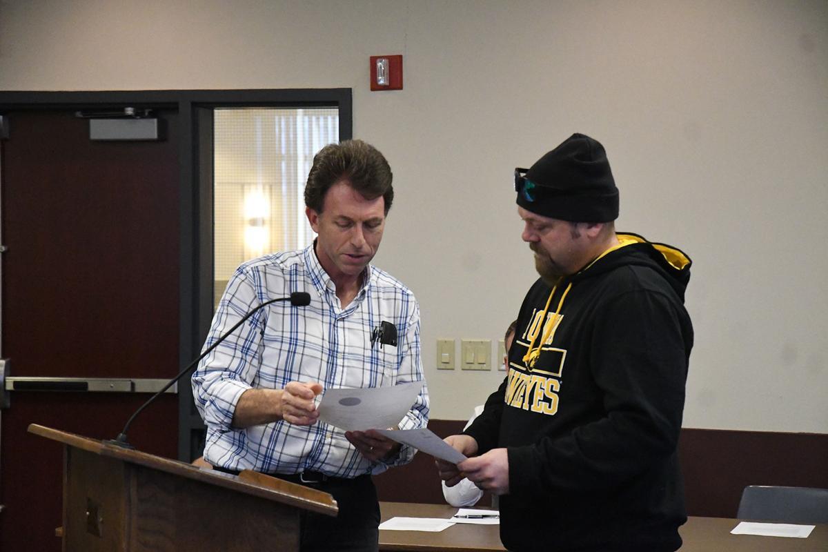Greg Geels honors Dave Andringa