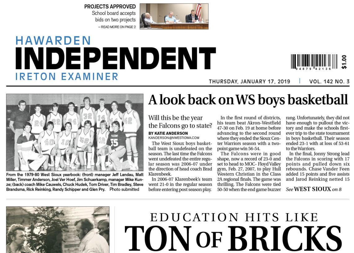 Hawarden Independent/Ireton Examiner Jan. 17, 2019