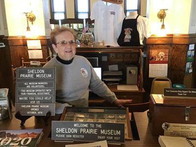 Sheldon Prairie Museum director Millie Vos