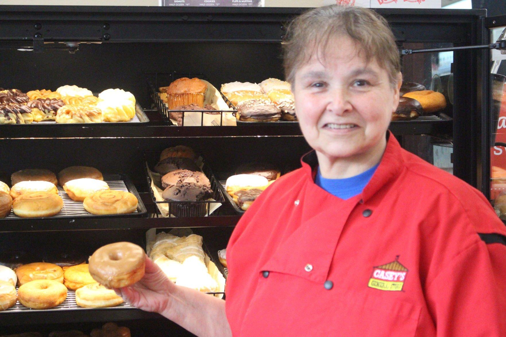 Helen Dixson loves doughnuts