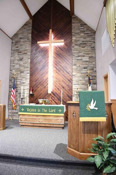 Peace Lutheran furnishings done