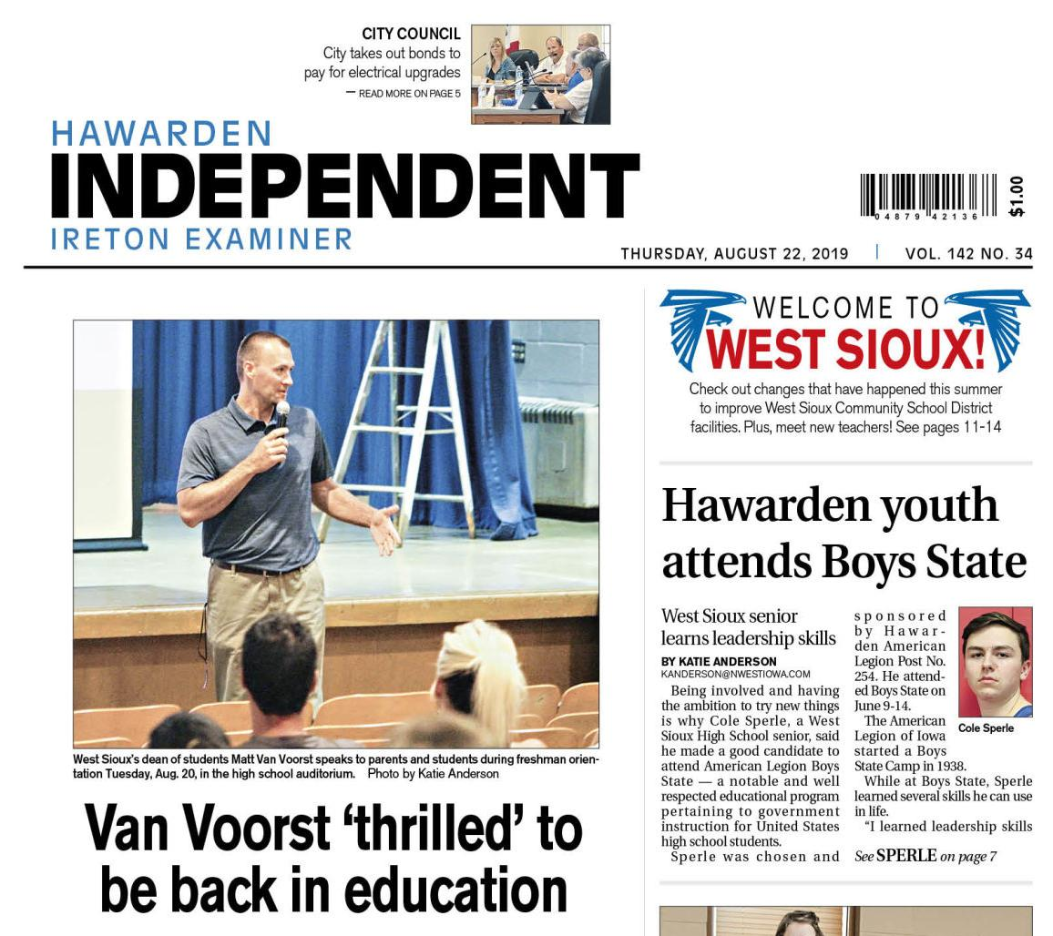 Hawarden Independent/Ireton Examiner Aug. 22, 2019