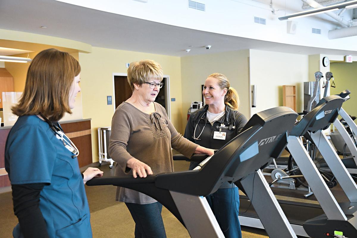Krahling exercises at  heart center