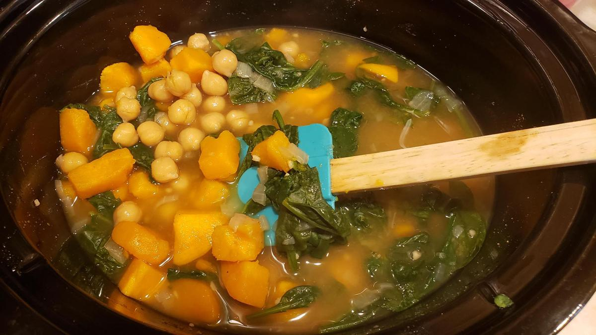 Meatless Monday slow cooker soup