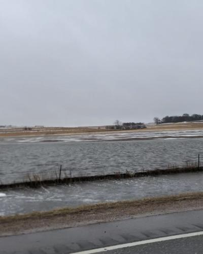 Fields are completely under water