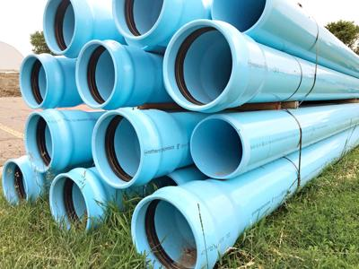Water pipes in Sioux Center