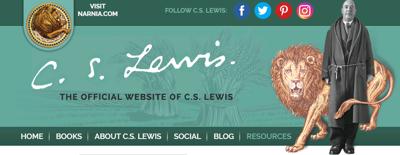 C.S. Lewis website grab