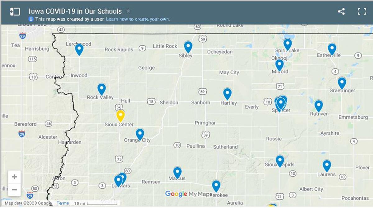 N'West Iowa schools on tracker site