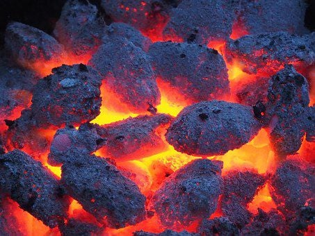 Image result for coals of fire