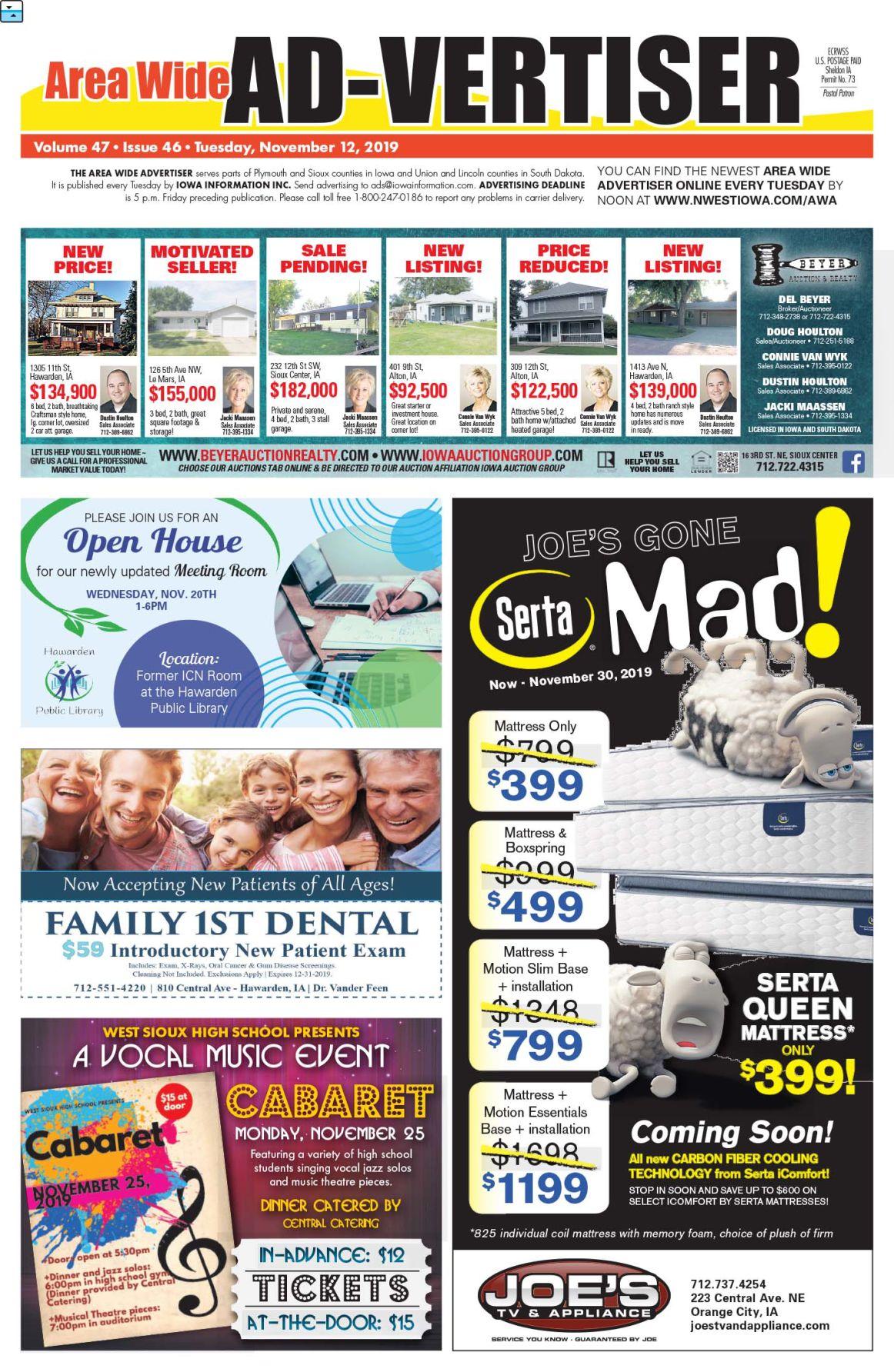 Area Wide Ad-vertiser: November 12, 2019