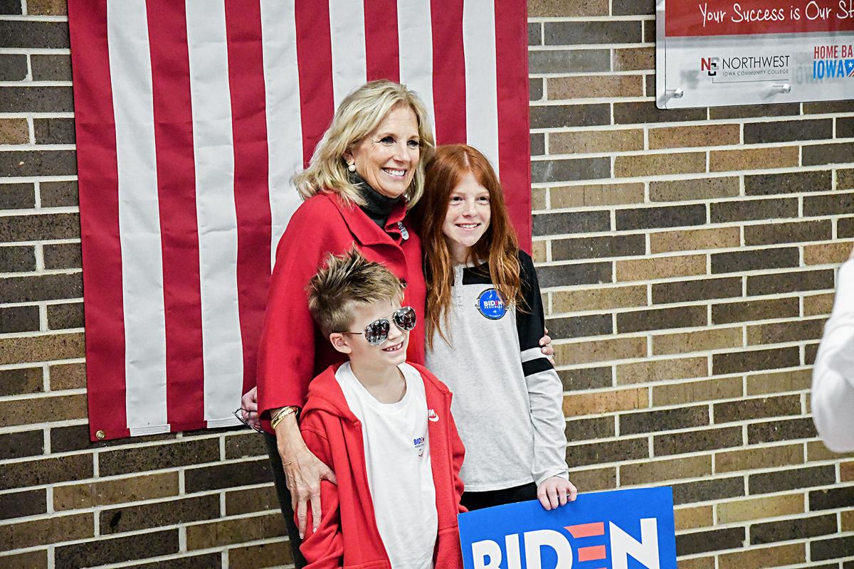 Jill Biden with Petersons