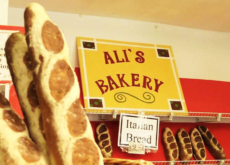 Ali's Bakery Sign
