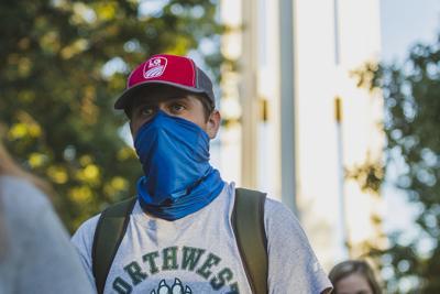 masks on campus