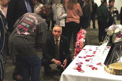 President Dr. Jasinski At Candlelight Vigil Honoring Morgan McCoy
