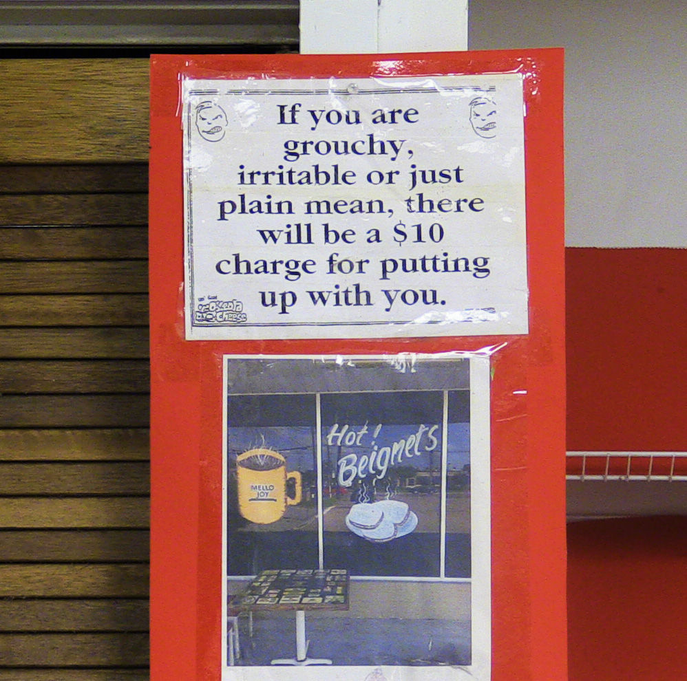 Ali's Bakery Funny Sign