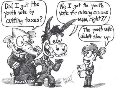 Courting youth voters