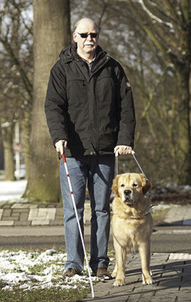 Visually Impaired Man And His K-9