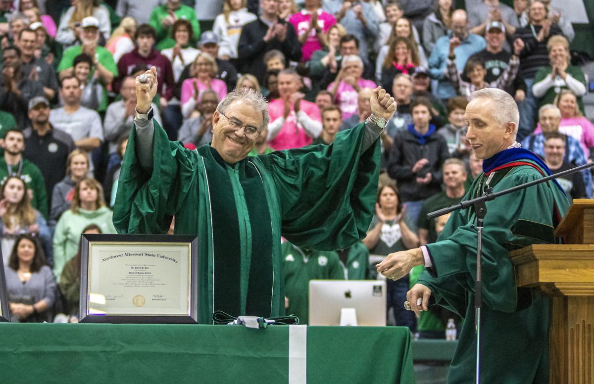 Lifelong Bearcat 'Doc Harr' finally gets degree from Northwest