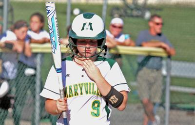 Maryville softball in district play