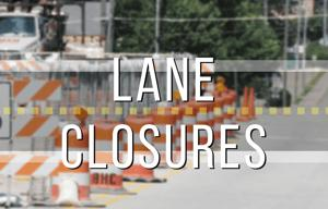 Lane closures on South College to start Monday
