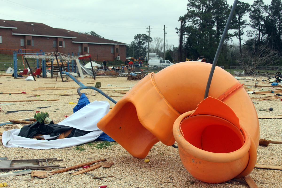 Tornado damage cleanup in Smiths Station