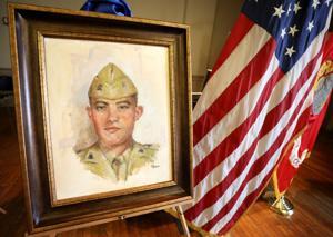 Salute to a hero: Portrait dedication honors fallen Marine, Auburn University grad