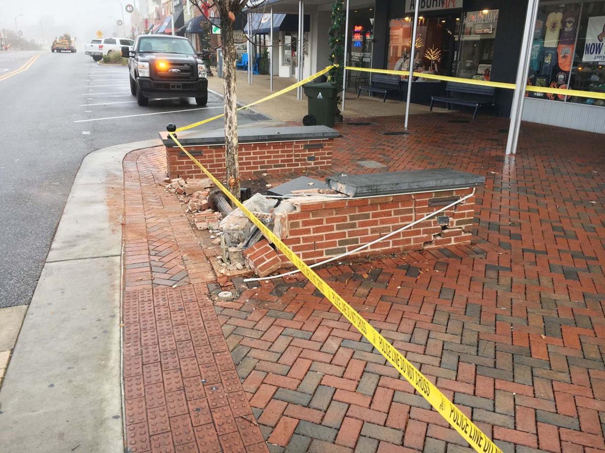 Damaged seat wall at Toomer\'s Corner under repair | Auburn | oanow.com
