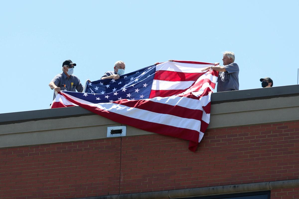Air Force Reserves fly over EAMC, salute healthcare workers