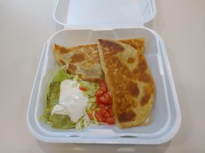 Tasty quesadillas from El Patron
