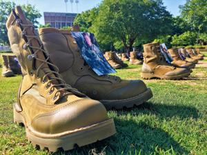 'Rucking for Raiders' marchers embark to honor fallen Marines