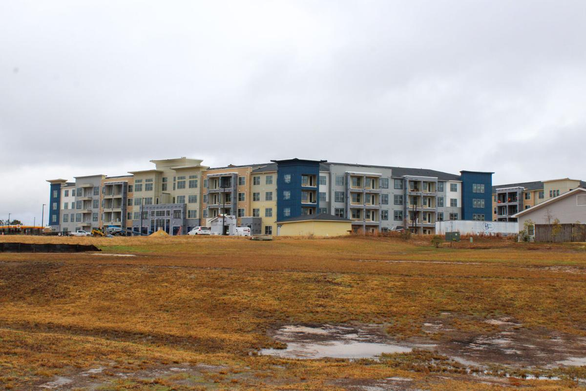 Four separate buildings are being built near E. Glen Avenue
