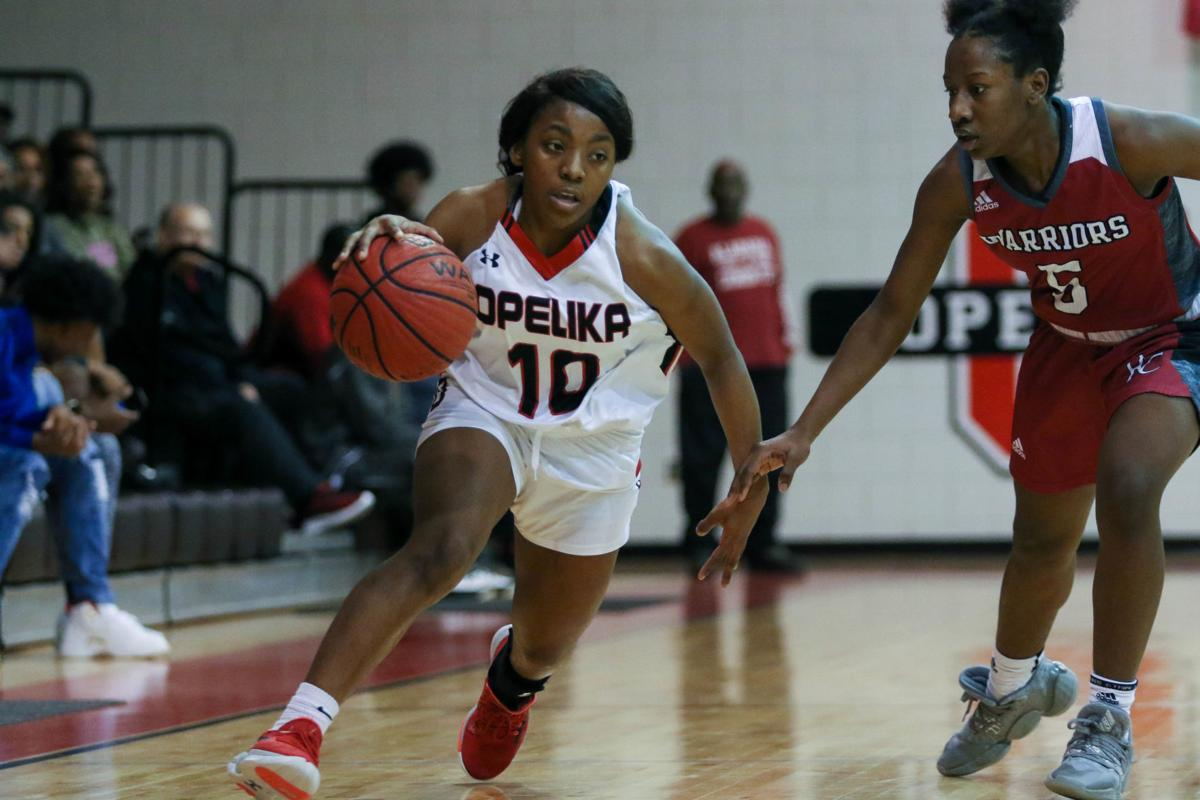 Opelika vs. Russell County Area 6-6A girls high school basketball