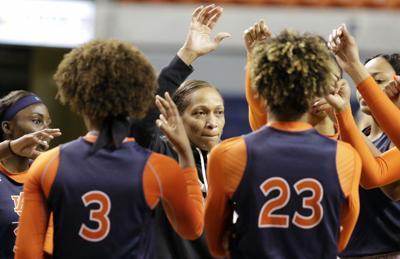 Auburn women's basketball practice