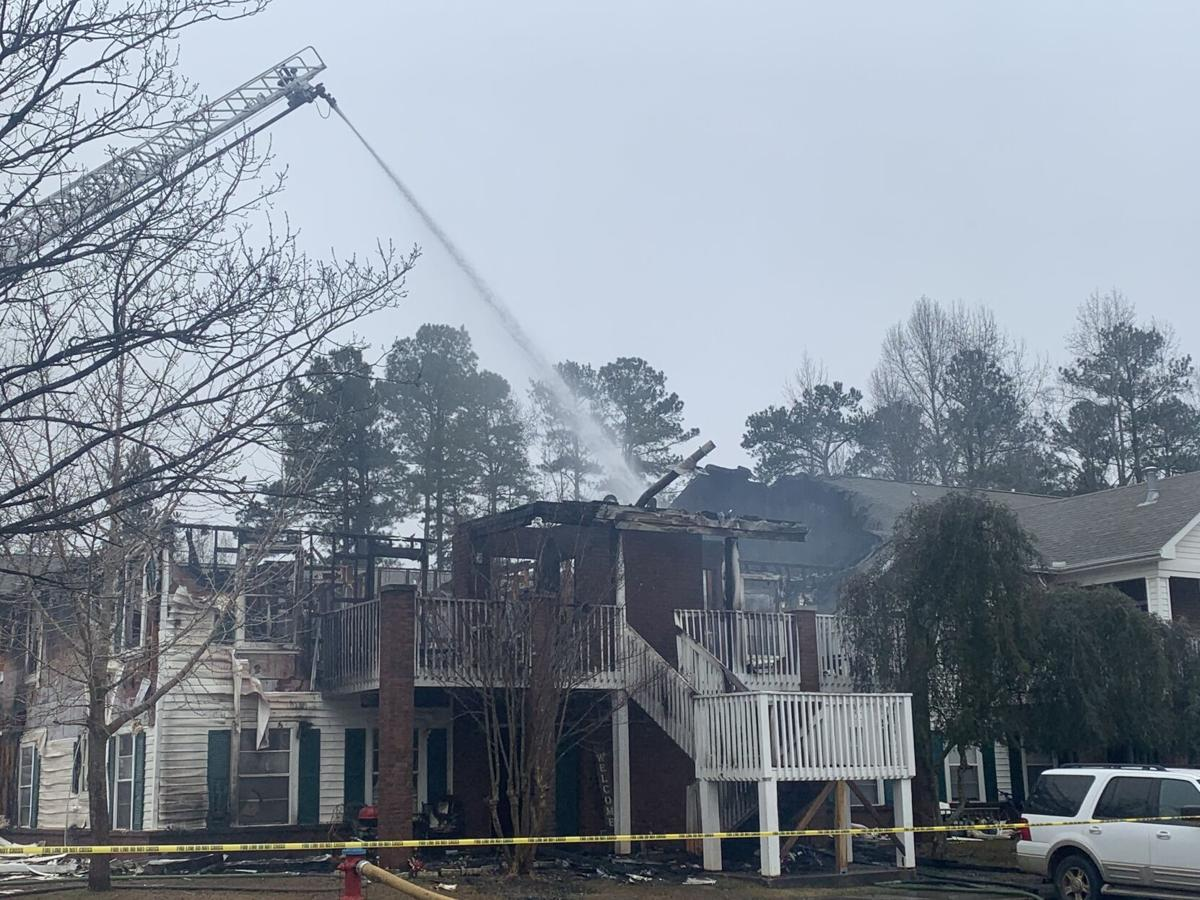 Thursday morning fire at Pinehurst Apartments (copy)