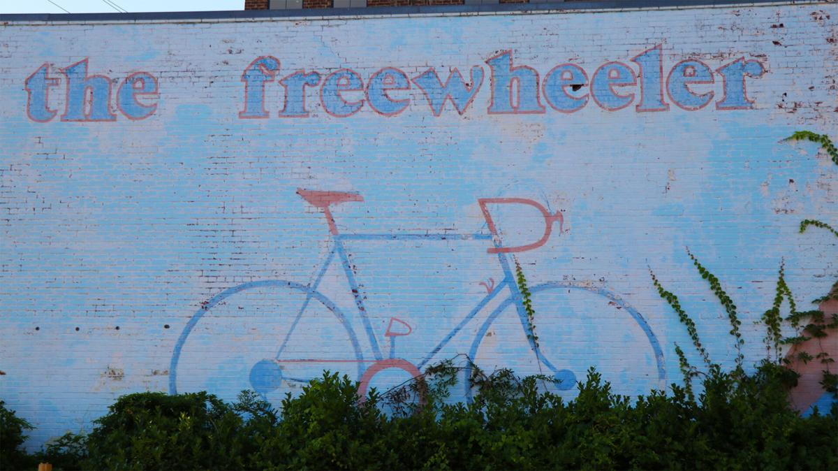 The Freewheeler mural in downtown Auburn