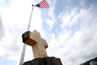 Tornado - Cross and flag