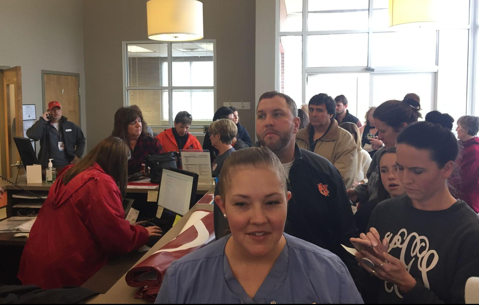 Local blood donors turn out in big numbers to support Lee County tornado victims