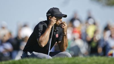 2014: Tiger Woods shoots a 79 at Torrey Pines to match his worst score on American soil