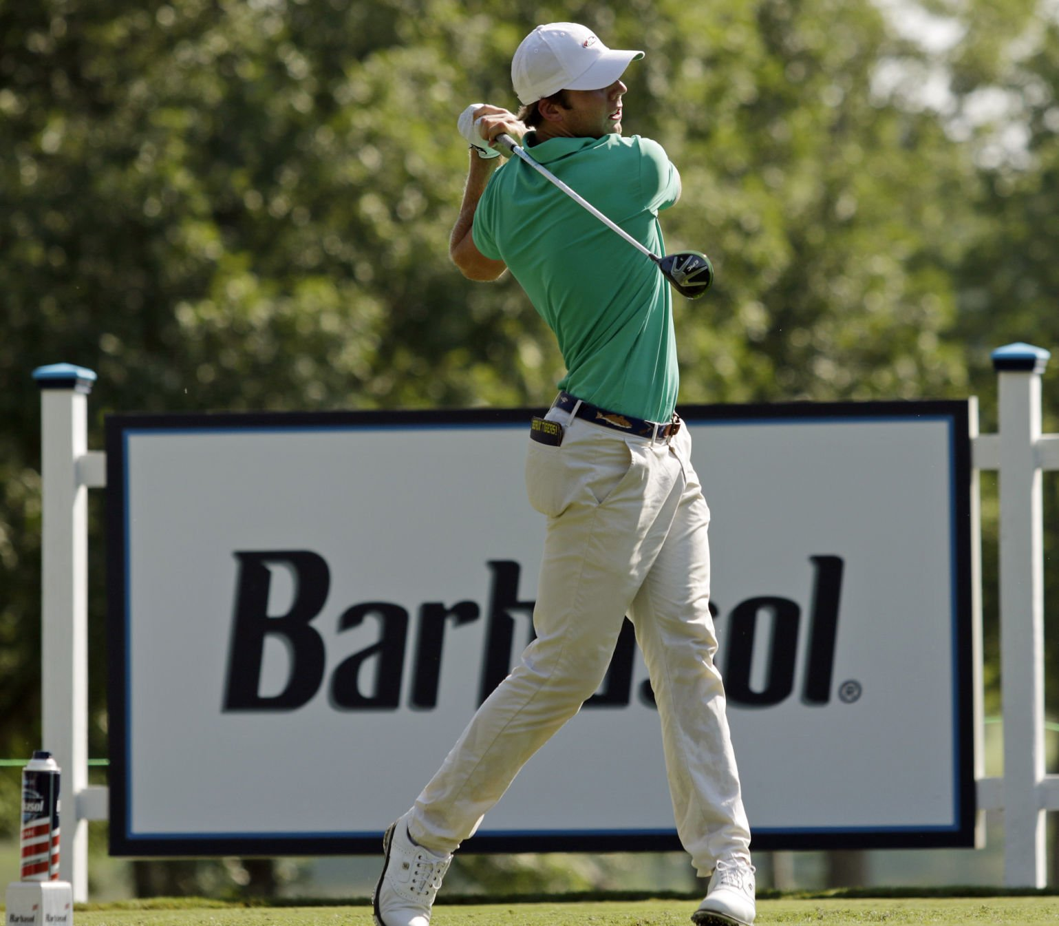 Chad Collins misses 59 chance, leads Barbasol Championship