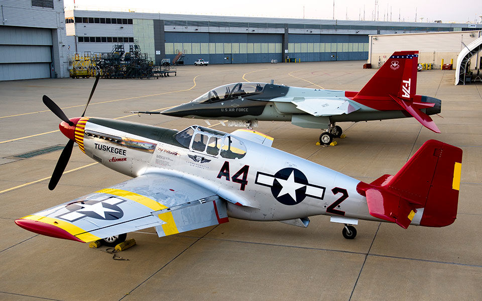 Tuskegee Airmen honored with Boeing T-7A