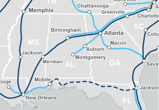 Auburn part of proposed Amtral new routes