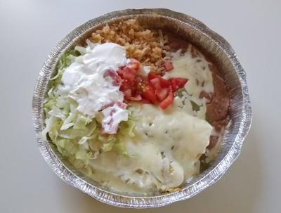 All hail Enchiladas Verdes from El Rey De Todos